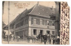 Hotel, goldener Adler, Post