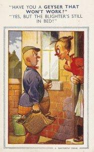 ,Have you a Geyser that won't work?.. Bamforth Comic Series postcard # 953