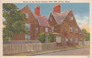 Massachusetts Salem House Of The Seven Gables Built 1668