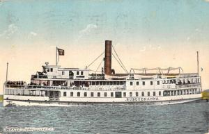 Steamer Susquehanna Steam Ship Boat Waterfront Antique Postcard K62019