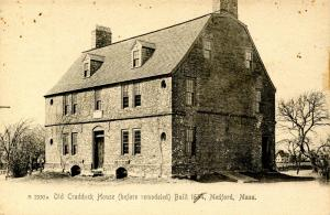 MA - Medford. Old Craddock House circa 1900, before remodeled