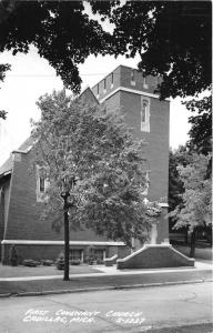 Cadillac Michigan~First Covenant Church~Lots of Trees~1950s RPPC Postcard