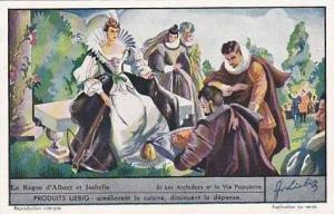 Liebig Vintage Trade Card S1363 Reign Of Albert & Isabel 1937 No 6 Les Archid...
