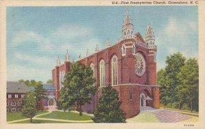 North Carolina Greensboro First Presbyterian Church Albertype