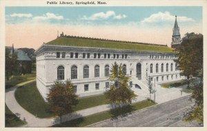 SPRINGFIELD , Massachusetts, 1910s ; Public Library