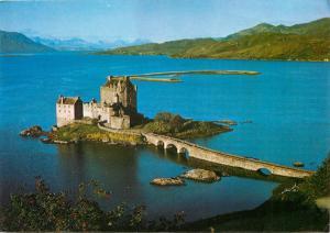 Eilean Donan Castle & Lochalsh Scotland aerial view Postcard
