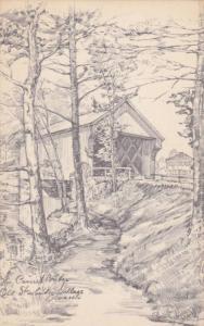 The Old Covered Bridge, Old Surbridge Village, Massachusetts,00-10s