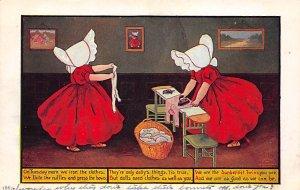 Sun Bonnets Post Card Sunbonnet Twins Writing on back