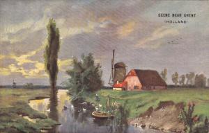Windmill, Scene near GHENT, Holland, 00-10s