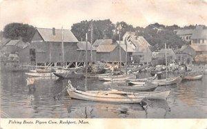 Fishing Boats Rockport, Massachusetts Postcard