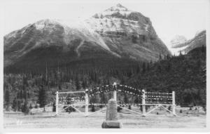 The Great Divide, Canadian Rockies Alberta British Columbia CPR Postcard RPPC