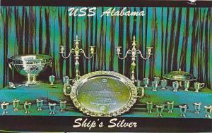 USS Alabama (BB 60) Battleship Commision, Magnificent Silverware,  Mobile, Al...
