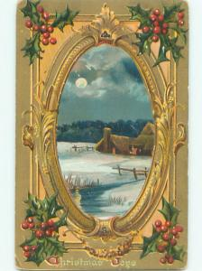 Divided-Back CHRISTMAS SCENE Great Postcard AA0044