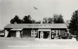 LP24 Wounded Knee  South Dakota Vintage RPPC Postcard Store Gas Station