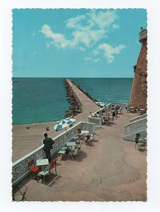 Postcard 1960 years ALGARVE ROCHA the mole from fortress PORTUGAL