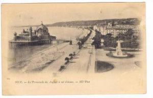 Nice , France, 1890s La Promenade des Anglais a vol d'oiseau