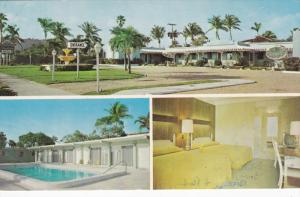 3-Views, WEST PALM BEACH, Florida; The Fountain Motel, Swimming Pool, PU-1988