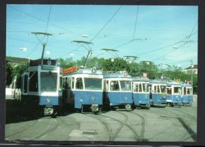 Colour PC  Zurich 1928 to 1987 Trams unused