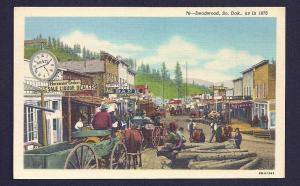 Deadwood as it appeared in 1876 South Dakota unused c1948