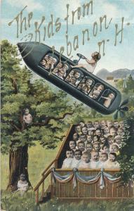 Multiple Babies Fantasy Flying Machine - Kids from Lebanon NH - K.V.i.B. 12 - DB