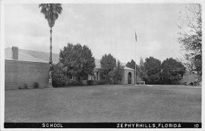 Zephyrhills FL School building RPPC Postcard