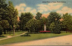 North Dakota Fargo Island Park Curteich