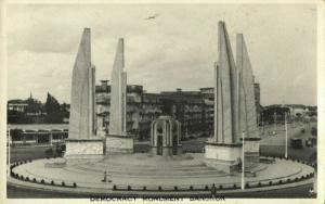 siam thailand, BANGKOK, Democracy Monument (1950s) RPPC Postcard