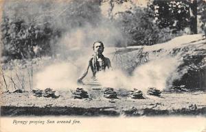 India Ryrary Praying Sun Around Fire