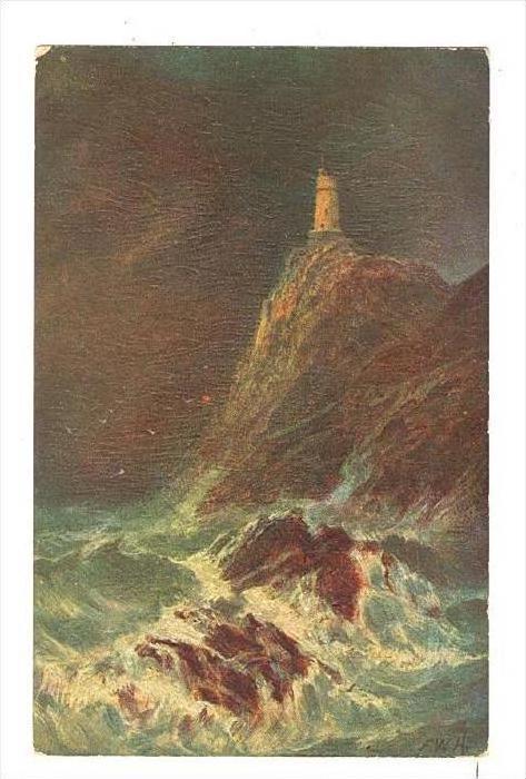 LIGHTHOUSE on cliff, UK, 00-10s