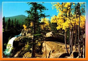 Colorado Rocky Mountains Alberta Falls Below Bear Lake