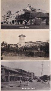 Kilindini Salim Road Mombasa Kenya 3x Plain Back Photo s & Postcard