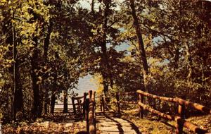Burlington Wisconsin~YMCA Co-Ed Camp Mac Lean~Rustic Path Down to Lake~1970s PC