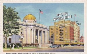 Nevada Reno Washoe County Court House and Hotel Riverside Curteich