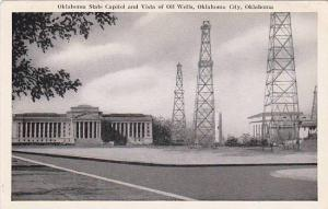 Oklahoma State Capitol and Vista of OIl Welss, Oklahoma City, Oklahoma, 10-20s