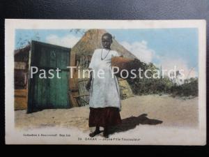 Vintage PC - Senegal, Dakar - Jeune Fille Toucouleur