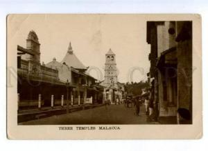 172119 Malaysia Three Temples Malacca Vintage photo postcard