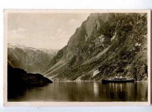 241186 NORWAY Gudvangen ship Vintage photo postcard