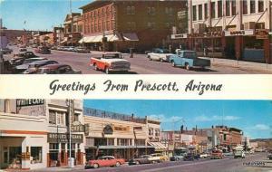 1950s Prescott Arizona Chrome Montezuma Street autos Whiskey Row Bradshaw 8521