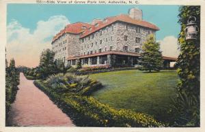 ASHEVILLE, North Carolina, 1910-20s; Side View of Grove Park Inn