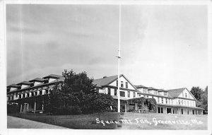 Greenville ME Squaw Mountain Inn Building Real Photo Postcard