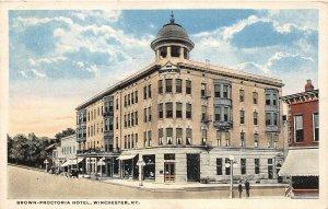 G8/ Winchester Kentucky Postcard  c1910 Brown-Proctoria Hotel