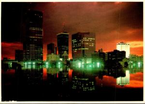 Florida Tampa Skyline At Twilight