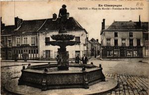 CPA Vertus-Place du Marché, Fontaine et Rue Jean-le-Bon (491542)