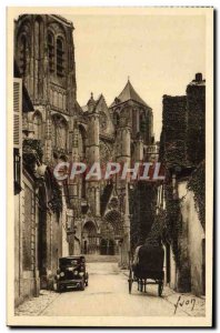 Old Postcard Bourges The Cathedral Facade of the cathedral view & # 39A old s...