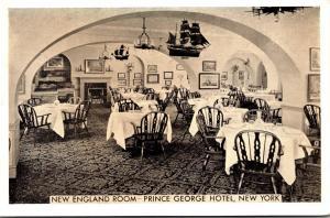 New York City Prince George Hotel New England Room