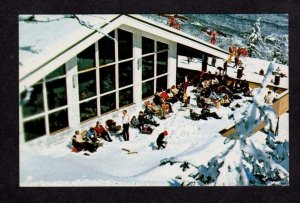 VT View Cliff House Stowe Vermont Postcard Ski Skiing PC Carte Postale