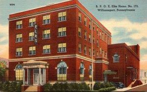 Pennsylvania Williamsport B P O E Elks Home No 173