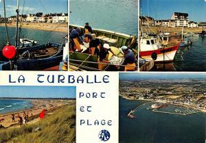 France La Turballe Le port de peche le port de plaisance et la plage