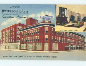 Linen JEFFERSON DAVIS HOTEL Anniston Alabama Alabama AL j5937