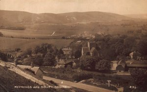 Poynings and South Downs Village Houses Panorama Postcard